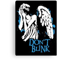 Doctor Who Don't Blink Canvas Print