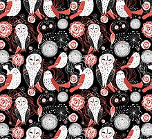 graphic pattern owl by Tanor