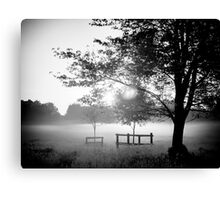 Hob Moor sunrise in black and white Canvas Print