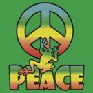 Peace Frog Tee by Jan Landers