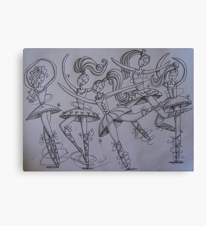 Dancing Ballerinas Canvas Print