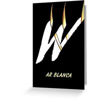 AR Blanca Font Iconic Charactography - W Greeting Card