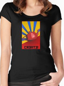 CREATE!  Women's Fitted Scoop T-Shirt