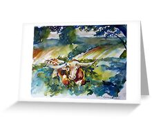 Under the Pecan Tree Greeting Card
