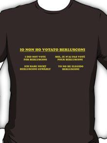 non ho votato berlusconi T-Shirt