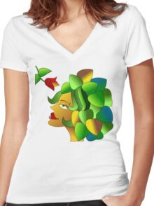The Florist Women's Fitted V-Neck T-Shirt