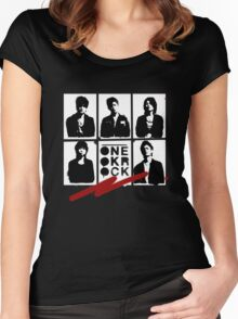 One OK Rock Stencil Women's Fitted Scoop T-Shirt