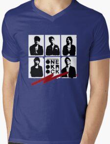 One OK Rock Stencil Mens V-Neck T-Shirt