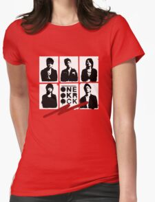 One OK Rock Stencil Womens Fitted T-Shirt