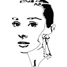 Audrey Hepburn by Rabi Khan