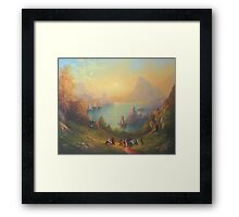 The Town On The Lake Framed Print