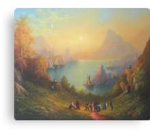 Lake Town (13 Dwarves and a Hobbit named Bilbo). Canvas Print
