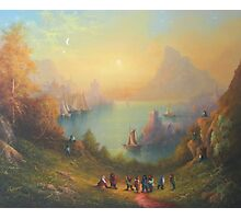 Lake Town (13 Dwarves and a Hobbit named Bilbo). Photographic Print