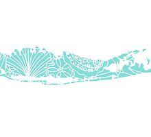 Long Island Blue and White Beach Print by christyefox