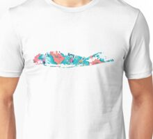 Long Island Map Print Outline  Unisex T-Shirt