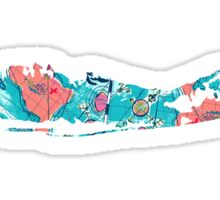 Long Island Map Print Outline  Sticker