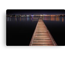 Jetty At Night  Canvas Print