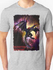Flying Black Wyvern Monster Hunter Unisex T-Shirt