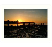SUNSET OVER OLD HARTLEY Art Print