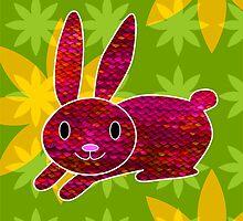 Knitty bunny by Trish Peach