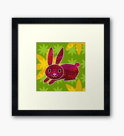 Knitty bunny Framed Print