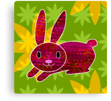 Knitty bunny Canvas Print