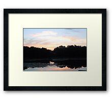 Sunrise over Sylvia Pond Framed Print