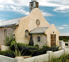 Pueblo Church in New Mexico by ptpatty