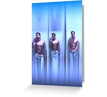 Guy in the shower Greeting Card
