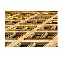 Divergent Views - New York City Architectural Abstract Art Print