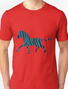 Zebra Black and Blue Print Unisex T-Shirt