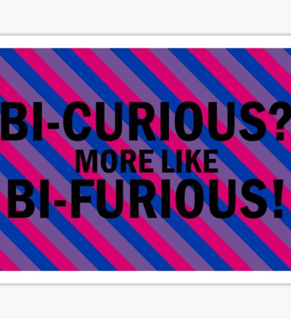 Bi-curious stripes Sticker