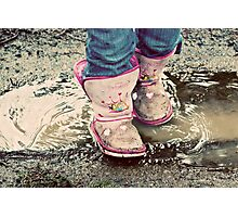 Sometimes You Just Have To Step In The Puddles Photographic Print