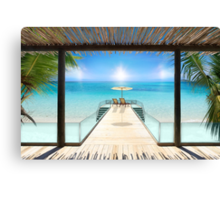Postcard from the Maldives - Very rare Sunrise Canvas Print