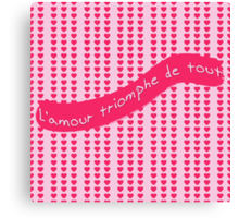 L'amour triomphe de tout (Love Conquers All) Canvas Print