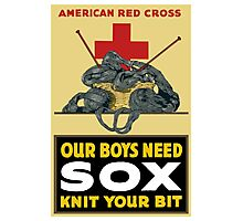Knit Your Bit -- American Red Cross Photographic Print