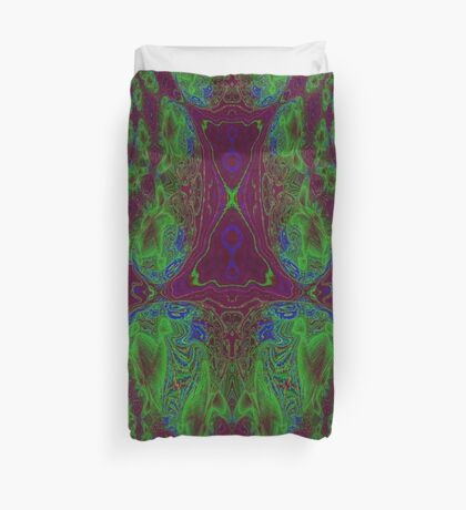 Fusion reactor - mapping of Photons into Electron- Positron pairs -graph Duvet Cover