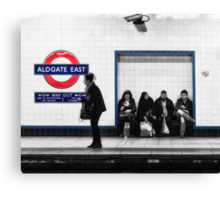 Aldgate East Tube Station Canvas Print