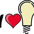 I love I heart light bulb quote symbol  by SofiaYoushi
