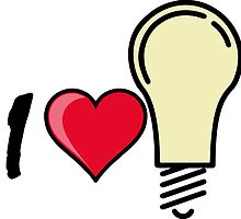 I love I heart light bulb quote symbol  by SofiaYoushi