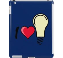 I love I heart light bulb quote symbol  iPad Case/Skin