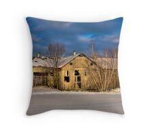 Morning Barn Throw Pillow