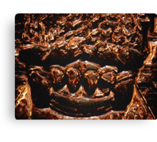 ©DA Gold Metal Teeth V2. Canvas Print
