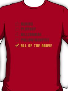 Genius Billionaire Playboy Philanthropist  (Color) T-Shirt