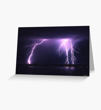 Lightning Puget Sound Greeting Card