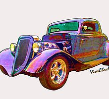 Tees - Pads - Phones - Pillows & More with Ford Street Rod on 'em! by ChasSinklier