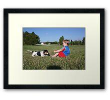 Boys best friend Framed Print