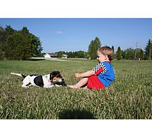 Boys best friend Photographic Print