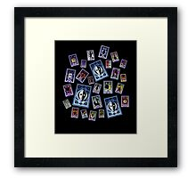Persona Cards Scatter! Framed Print