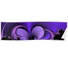 Purple Fractal Poster